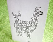 ALPACA Word Art CARDS, Set of 4