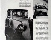 Vintage French Ad  Renault Cabriolet Automobile 1930