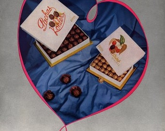 French Vintage Poster Ad - Kohler Chocolates 1954