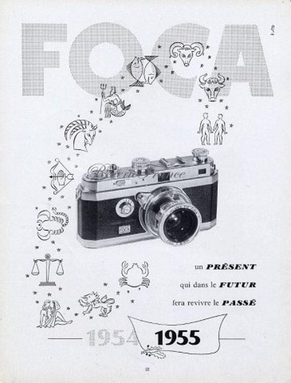 Vintage French Ad - Foca Camera 1954