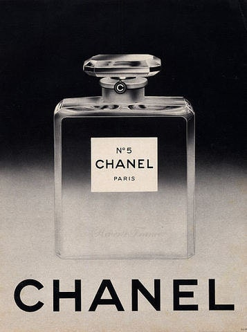 french vintage poster ad chanel 5 perfume 1954