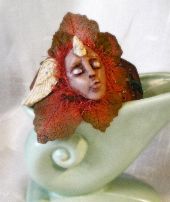 Unicorn Fairy Bracelet Horned Sculpted Fantasy OOAK
