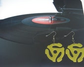 45 RPM Record Adapter Acrylic Earrings