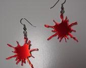 Paint Splatter Acrylic Earrings