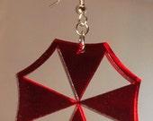 Resident Evil Umbrella Corporation Inspired Acrylic Earrings Mono Color