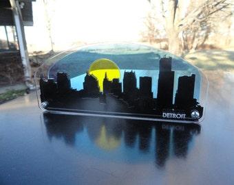 3D Detroit Skyline Cityscape