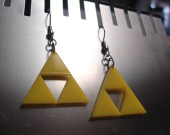 Triforce Zelda Acrylic Earrings - including Glow in the Dark option!