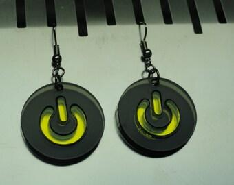 Power Button Acrylic Earrings