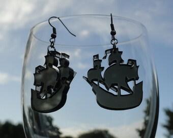 Pirate Ship Acrylic Earrings