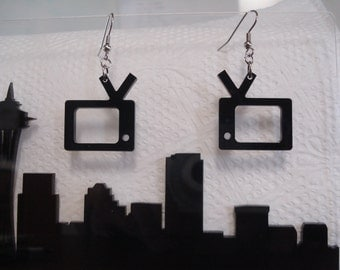 TV Acrylic Earrings
