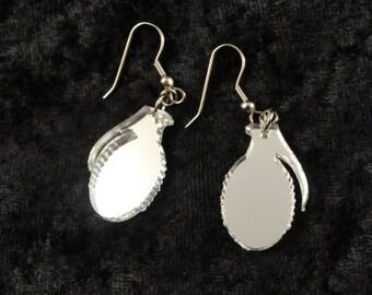 Small Grenade Acrylic Earrings