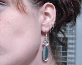 The Bomb ... Acrylic Earrings