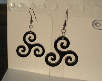 Triskele Spiral Acrylic Earrings
