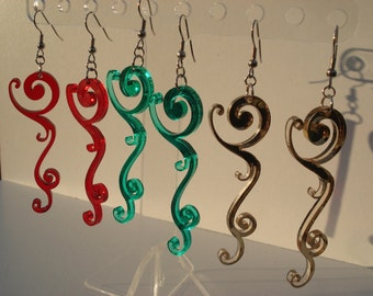 Floral Swirl Acrylic Earrings