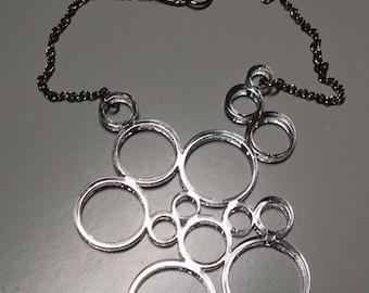 Geometric Circle Pendant Necklace