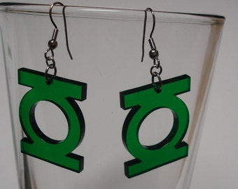 Green Lantern Inspired Earrings