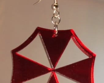 Resident Evil Umbrella Corporation Inspired Acrylic Earrings Mono Color
