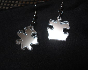 Puzzle Piece Earrings Acrylic