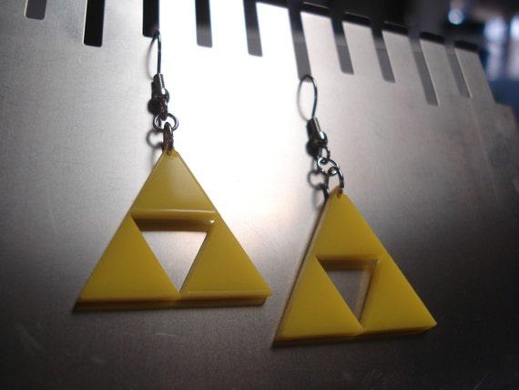 Triforce Zelda Acrylic Earrings - including Glow in the Dark option!