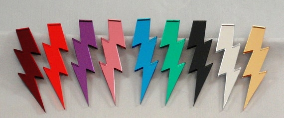"5"" Glam Style Extra Large Lightning Bolt Earrings"