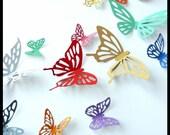 3D Wall Butterflies - 20 Colorful Butterflies for Nursery, Wedding, Home Decor