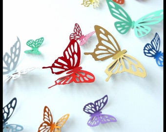 3D Wall Butterflies - 30 Colorful Butterflies for Nursery, Wedding, Home Decor