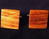 Wooden (Bubinga) Cufflink Set - This item is reserved for amenar123 -