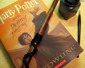 "12"" Red Mahogany Harry Potter Wand - Leather Grip"
