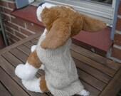 Handknit dog sweater
