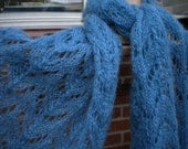 Lace scarf in mohair blend