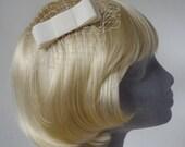 Ivory Bow  Hair Comb- Ivory Bow  Haircomb