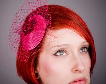 Pink Fascinator- Pink Flower (Blossom) -Small