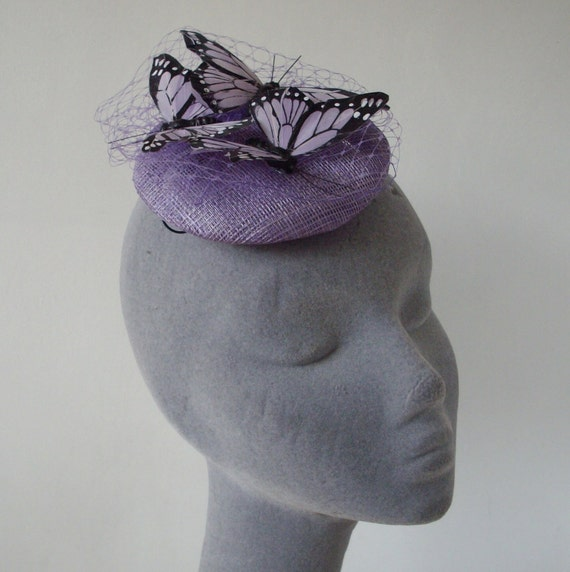 Lilac Fascinator - Lilac Butterfly -Large