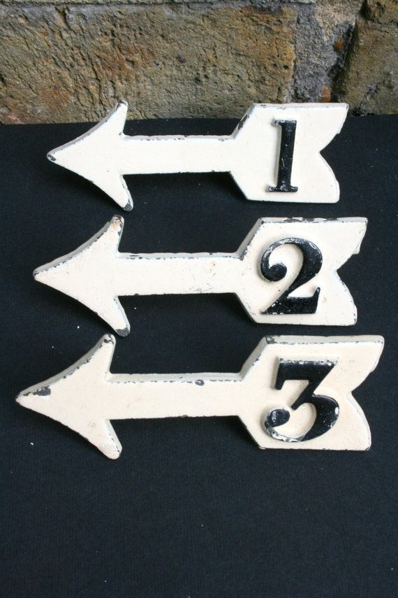 Quirky Metal Arrow - Number Four