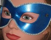 BluE n GLITTER Handmade  Leather Mask