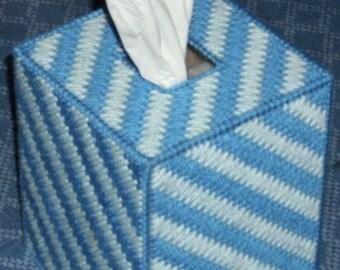 Tissue Box Cover Blue