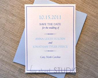 Save the Date Wedding Card, Simple Elegance
