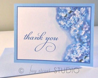 Thank You Notes Hydrangeas, 10-Count