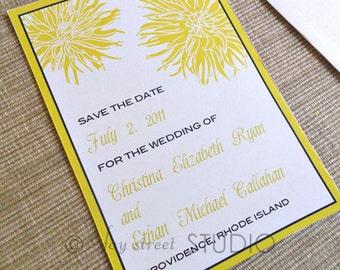 Save the Date Magnet, Wedding Card, Dahlias