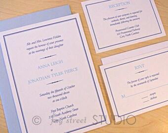 Wedding Invitation Suite / Elegant Modern Wedding Invitations, Simple Elegance - Deposit