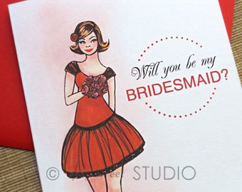 Will You Be My Bridesmaid / Maid of Honor / Flower Girl? Bridal Party Cards, 3-Count