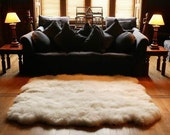Winter clearance sale. Octo (Eight Pelt) Sheepskin Rug.