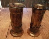sale,, ART DECO VASES, set of 2,English Art Glass, 1928-1939, davidson cloudglass, tortoiseshell pattern, rare