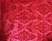 S.A.L.E -RED DAMASK table runner,150 x 45 cm, home decor