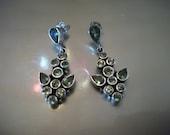STERLING SILVER & PERIDOT , gemstones, earrings