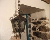SALE , antique VICTORIAN LANTERN, ready to be hardwired, lighting, home decor