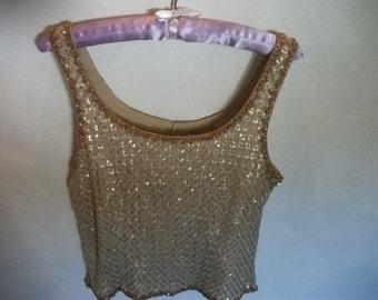 SALE, hand-beaded silk top
