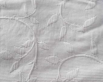 sale--vintage FRENCH  MATELASSE COVERLET, pure cotton, taupe