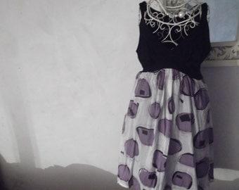 sale-SILK and COTTON DRESS, size m