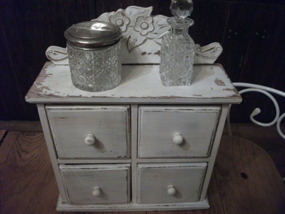 CHEST OF DRAWERS, jewellery, shabby chic, armoire, wall cupboard, storage, bathroom, kitchen, office